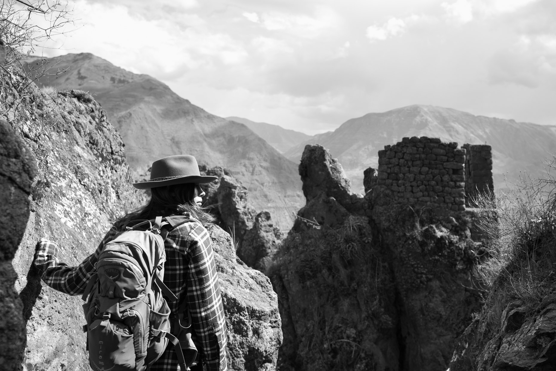 Exploring the ruins of Pisac