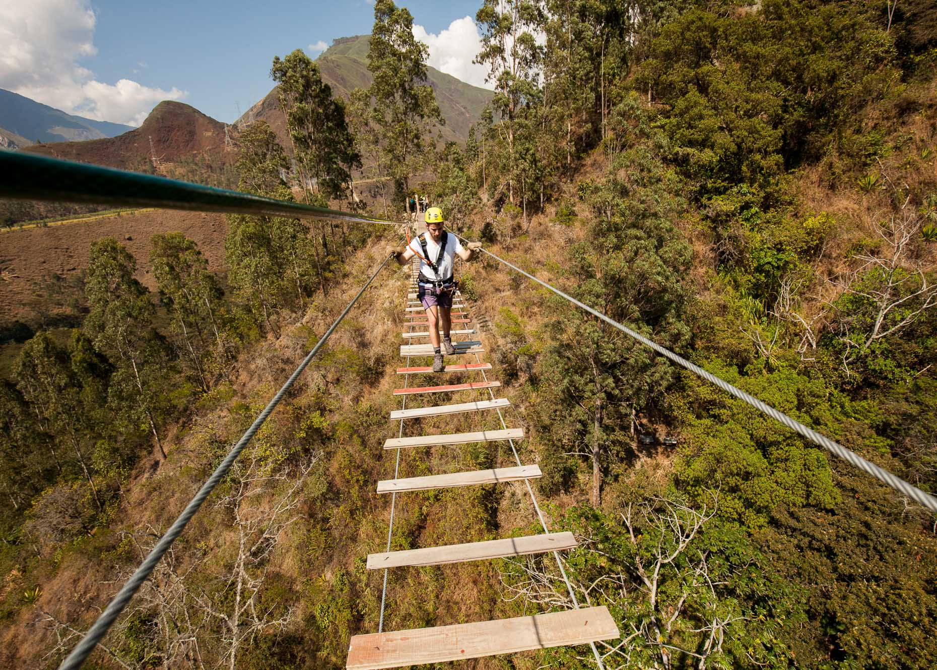 Suspension Bridge, Salkantay Trek, Peru